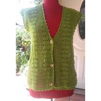 Chaleco Tejido Crochet Artesanal Nuevo