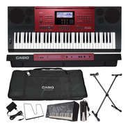Kit Teclado 61 Teclas Ctk-6250 Casio Capa Bag Pedal Sustain