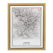 Cuadro Moderno -  40x50cm Ciudades Mapa