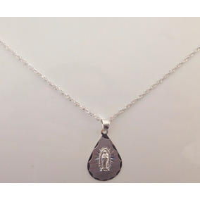 Cadena Y Dije De Cruz Cristo Ancla Medalla Plata Ley 925