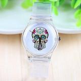 Relógio Caveira Mexicana Transparente