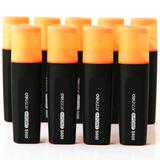 (deli) S600 Marca Llamativo Resaltador Naranja 10 Piezas / C