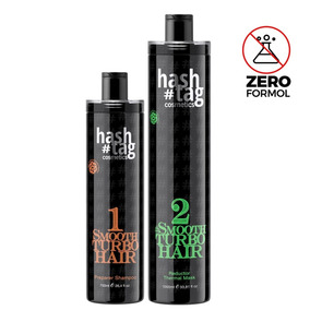 Hashtag Kit Progressiva Sem Formol Smoth Turbo Hair