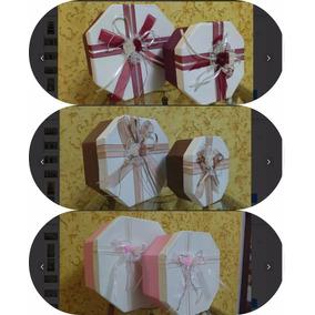 3 Kits Com 4 Caixas Presente Papelão Oitavada G/m/p/pp