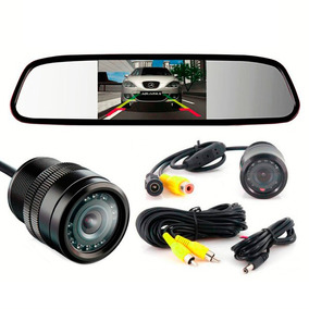 Espelho Retrovisor Interno Monitor + Câmera De Ré Colorida