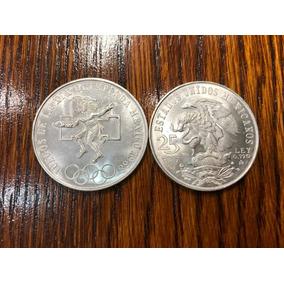 25 Pesos Olímpica, Dos Monedas, Muy Buen Estado Envío Gratis