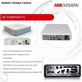 Dvr Hikvision 4 Canales Turbo-hd Ds-7104hqhi-f1/ Tvi-ahd