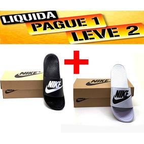 Kit 2 Pares Chinelo Nike Revenda Barato Caixa + Frete Grátis