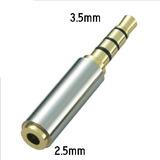 Adaptador Para Audifonos Con Microfono 2.5 A 3.5 Mm. 4 Polos