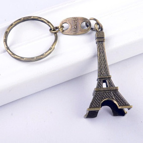 48 Chaveiro Torre Eiffel Paris Prata Bronze Festa