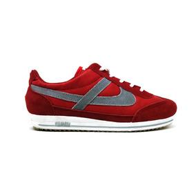 Tenis Panam Rojo Azul Palido Running Flex M:2105