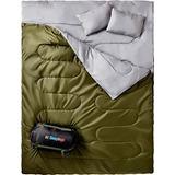 Doble Saco De Dormir Para Mochilero, Camping O...