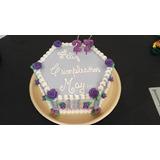 Torta Cumpleaños Infantiles Decoradas Crema Hexagonal Envios