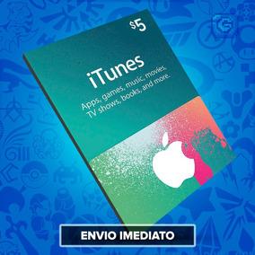 Itunes Gift Card $5 Dólares - Cartão Itunes Apple Usa