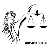Adesivo Decorativo Escritório De Advocacia Direito Justiça