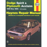 Manual Taller Dodge Spirit Lebaron Shadow Y Plimouth 89-95