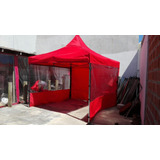 Carpas Plegables 3 X 3 ,tres Laterales , 4 Estacas Bolsos