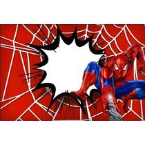 Painel De Aniversario Homem-aranha 39,99(tecido Oxford)