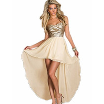 Vestido-strapless Chiffon Dress Sexy Europeo De Mujeres