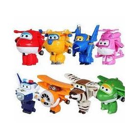 Kit 8 Super Wings Mini Aviões Discovery Kids Promoção