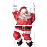Papai Noel Subindo As Escadas 90cm Natal 2017