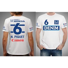 Camisa Retrô Nelson Piquet Formula 1 Williams Branca 9334e4addb793