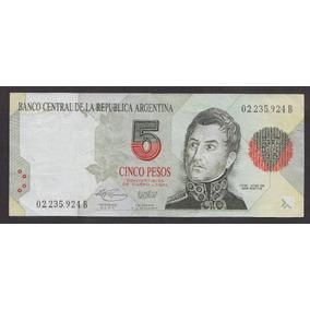 Argentina Billete De 5 Pesos Convertibles Serie B Cohen Nº 4