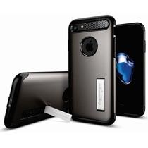 Funda Iphone 7 Plus Spigen + Cristal Templado 0.3mm 2.5d