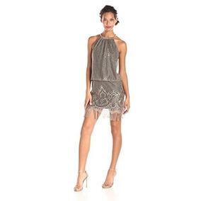S.l. Fashions - Vestido De Coctel En Color Dorado