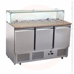 Mesa Refrigerada Superficie Granito Criotec Esl3864 Insertos