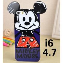 Funda Mickey Caricatura Plástico Para Iphone 6/ 6s