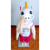 Unicornio Fantasia Aniversário Infantil Pronta Entrega