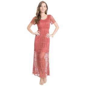 Vestido De Encaje Cafe Vestidos Largos Mujer - Vestidos en Mercado ... a98ab2b783f8