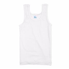Camiseta Franelilla Escolar Color Blanco Marca Ovejita