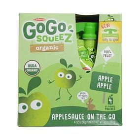Gogo Squeez Orgánica Puré De Manzana - Apple - 3.2 Oz - 4 Pk