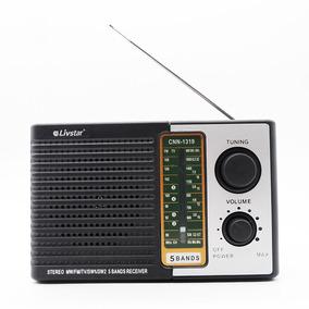 Radio Portatil Retro Com 5 Bandas Fm Sw E Tv Livstar Com Ent