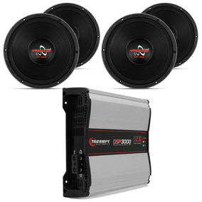 Modulo Taramps 3000w Rms + 4 Woofer Hard Power 12 550w Rms