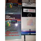 Antiguo Discos Simulador Vuelo Floppy Disket Apple 2 Kzr