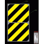 Etiqueta Zebrada Adesiva Demarcação Área Maquina Perigo