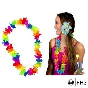 Collar Hawaiano Fiestas Disfraz Boda Xv Años Eventos Peluca