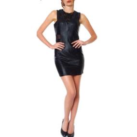 Mini Vestido Sexy Transparencia Encaje T M Estilo Roquero