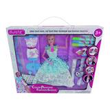 Muñeca Simil Barbie Diseñadora De Vestidos Con Marcadores