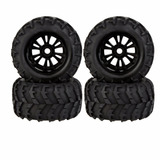 4 Pneus C/ Rodas Monster Truck Summit Savage Flux Mad Force