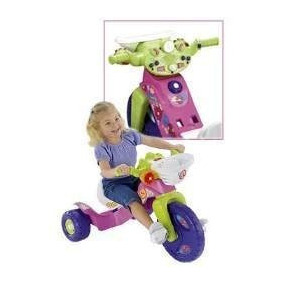 Montable Triciclo Fisher Price Barbie Con Luces Y Sonidos