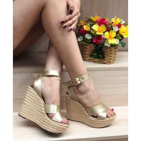 Sandalias Plataforma De Moño Mujer Calzado Colombiano