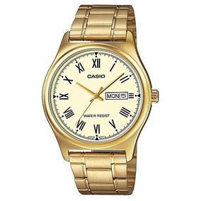 Reloj Casio Dorado Color Oro Cuarzo Proteccion Contra Agua