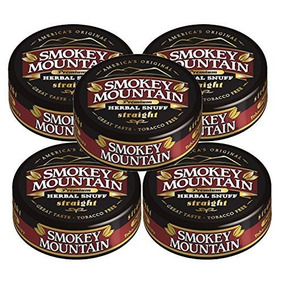 Smokey Mountain Snuff, 5 Latas - Straight - Libre De Tabaco