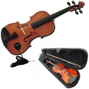 Violin Electrico 4/4 Estuche Arco Resina Cable Mic Curso