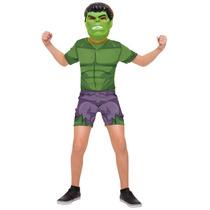 Fantasia Infantil Masculina Hulk Mascara Rubies- Lançamento