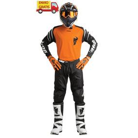 Combo Thor Pantalon, Jersey Y Guantes Moto Cross Enduro Ktm